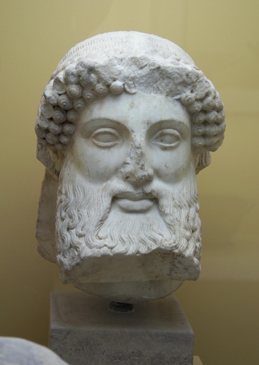 Hlava Herma, Alkamenés, mramor, -5. st.